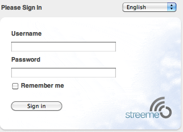 Steeme Login Page